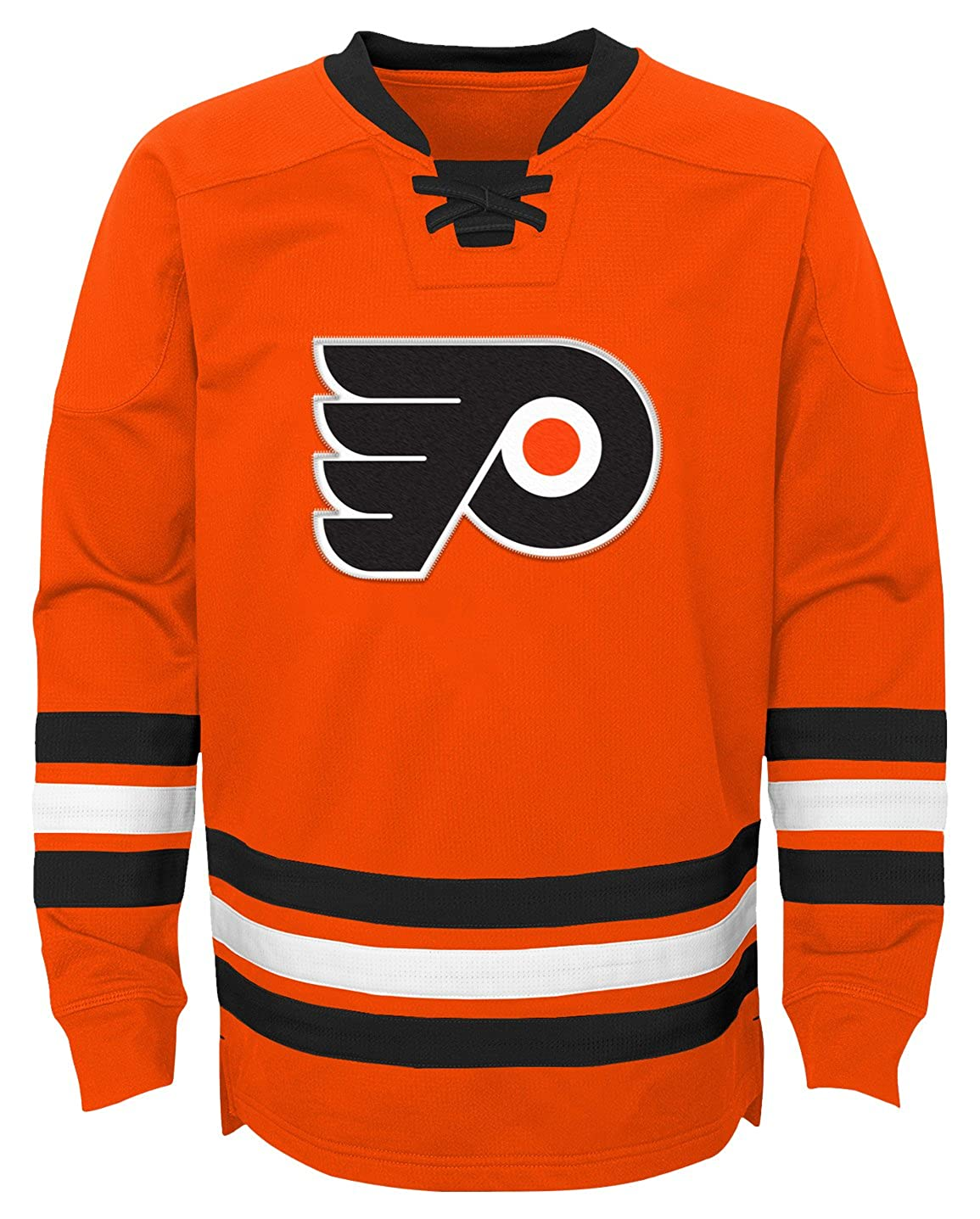 NHL Philadelphia Flyers Boys  Outerstuff Classic Hockey Crew Team Color Youth Large 12-14