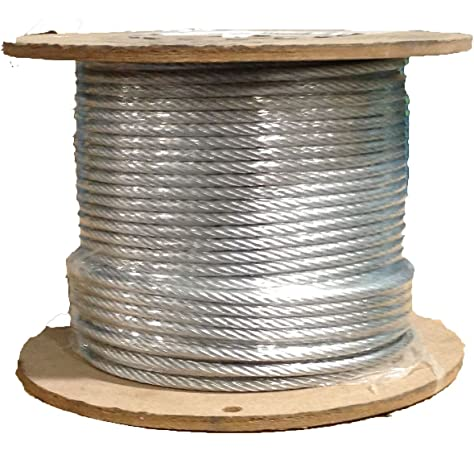 3 16 7x19 Stainless Steel Aircraft Wire Rope Cable T304 500 Foot Reel Amazon Com Industrial Scientific