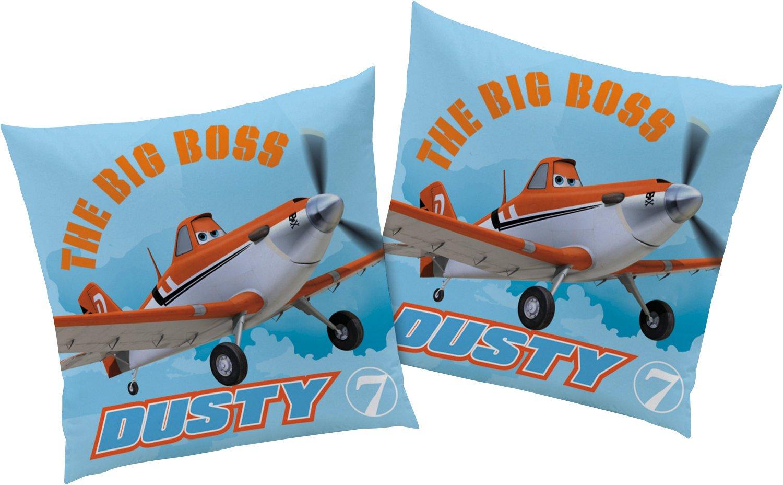 CTI 040889 Coussin Imprim/é Planes Dusty 40 x 40 cm Bleu