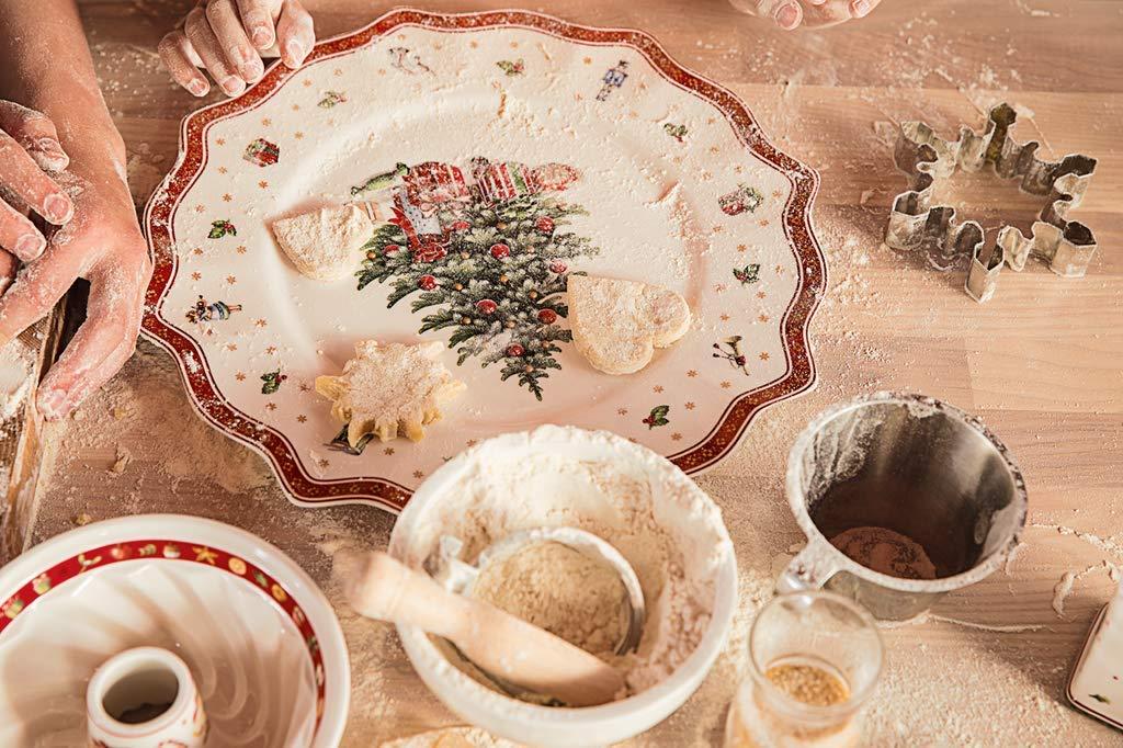 Villeroy & Boch Toys Delight Plato de presentación, 35 cm, Porcelana Premium, Blanco/Rojo: Amazon.es: Hogar