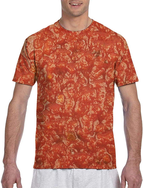 Mens Shirts Marinara Tomato Texture Print Food Unique Tshirt Short Sleeve 3D Casual Tees T Shirt for Women