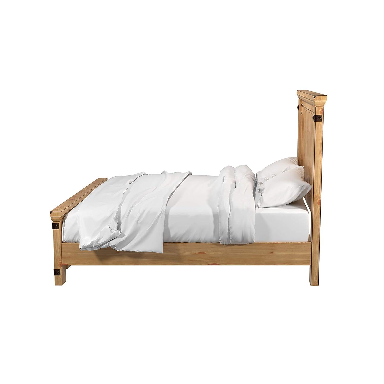 Amazon.com: Pioneer Country Style WEATHERED Elm acabado cama ...