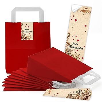10 rojas pequeñas bolsas de papel Papel bolsillos con suelo ...