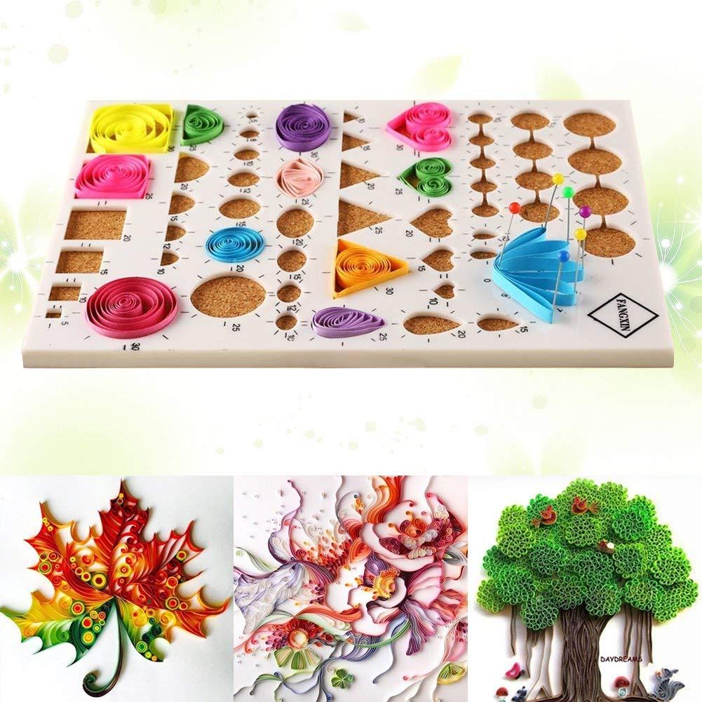 Juego de filigranas de papel, 5 mm de papel ~ Kit de manualidades de bricolaje para moldes y peines (tamaño: ancho de papel: 5 mm): Amazon.es: Hogar