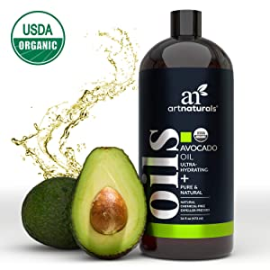 ArtNaturals USDA Organic Avocado Oil - (16 Fl Oz / 473ml) - Massage Oil & Moisturizer – 100% Pure Expeller Pressed, Hexane Free for Cooking Hair, and Skin – Treatment for Age Spots Dry Skin and Scars
