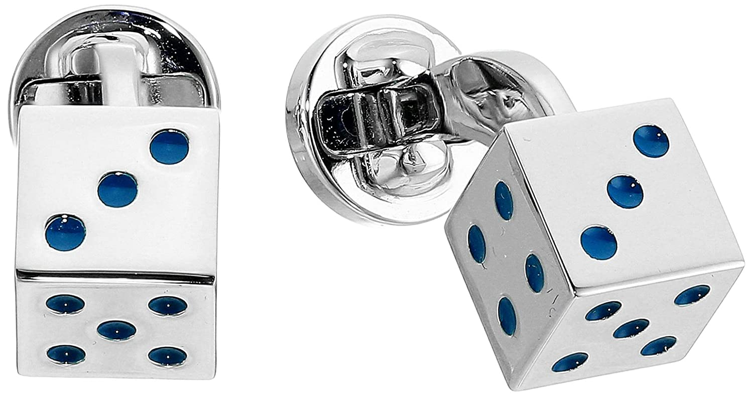 Ted Baker Men's Prost Dice Cufflinks Silver One Size XS7M-XC20-PROST