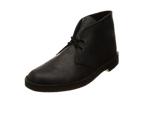 ICONIC Clarks Originals Desert Boot Black Smooth Leather Infant UK 10 G Fit
