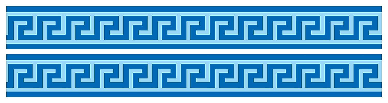 Papier Borte Tapetenbord/üre Bord/üren Borde Wandborde Griechenland Fluss Muster M0004 wandmotiv24 Bord/üre M/äander 260cm Breite