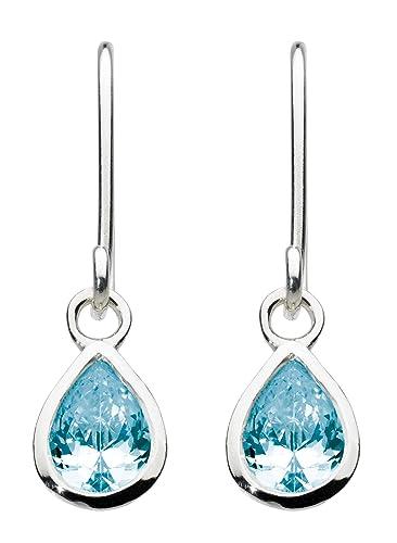 Dew Sterling Silver and Stone Teardrop Drop Earrings Cq2gw6mQ