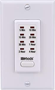 Woods 59724WD In-Wall 4-Hour Digital Countdown Timer