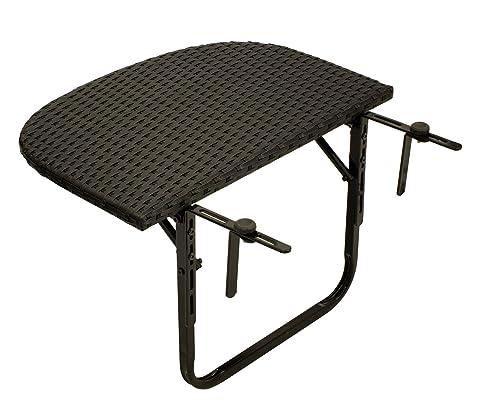Balkonhängetisch rattan  Amazon.de: Balkonhängetisch 60x40cm, Metall + Polyrattan schwarz