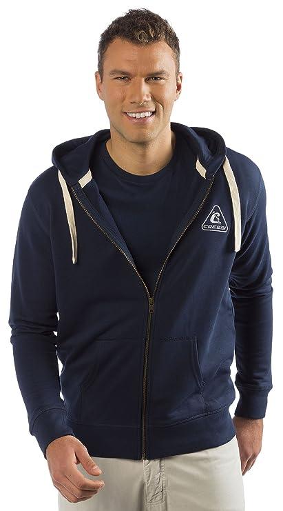 CRESSI Sudaderas Hombre en Algodón Organico Premium Blue Navy, tamaño S