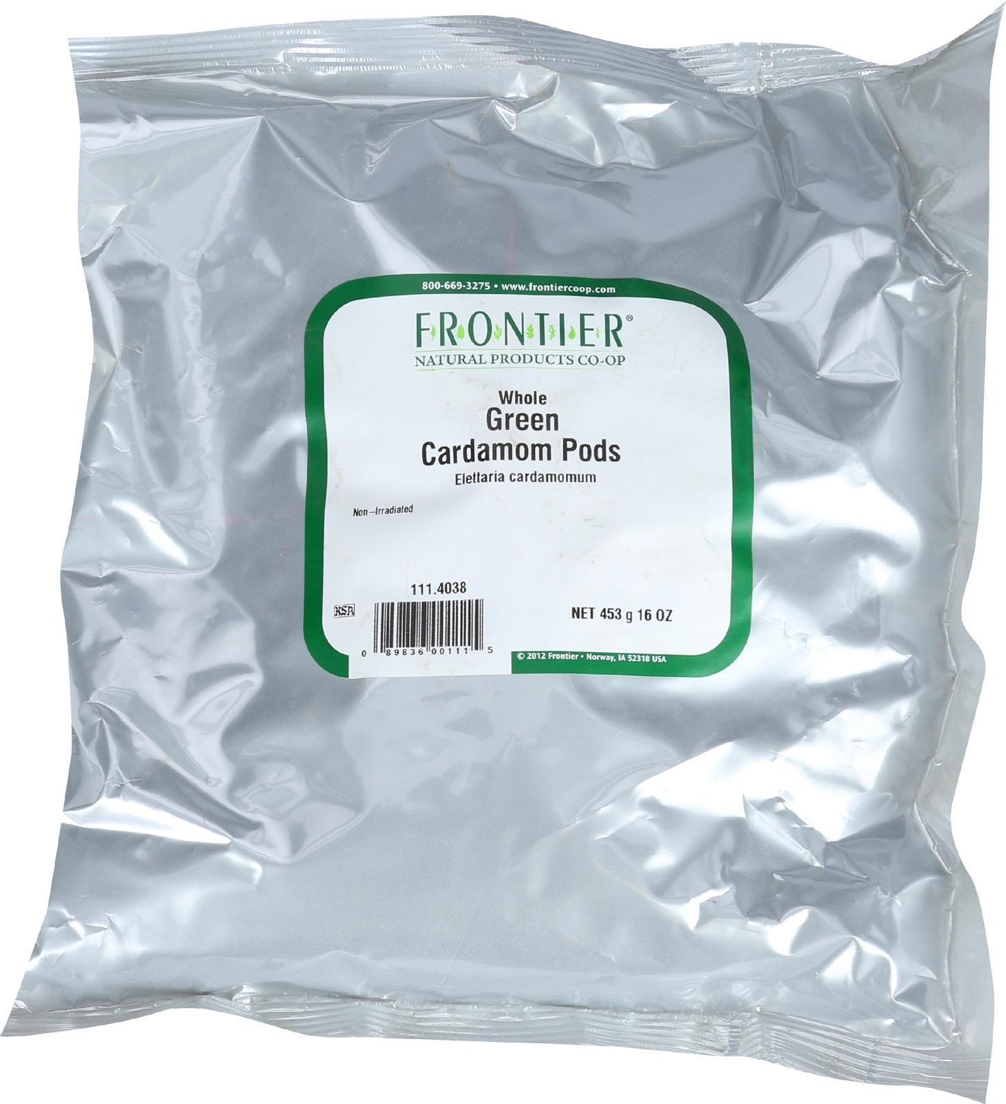 Frontier Cardamom Pods Whl/Green (1x1LB )