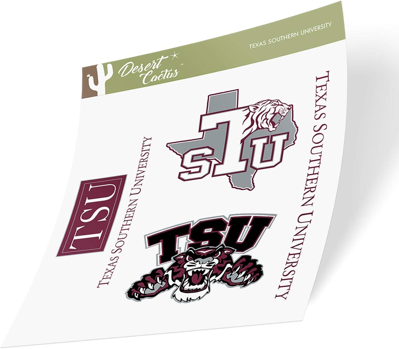 Texas Southern University TSU Tigers NCAA Sticker Vinyl Decal Laptop Water Bottle Car Scrapbook (Type 2 Sheet)