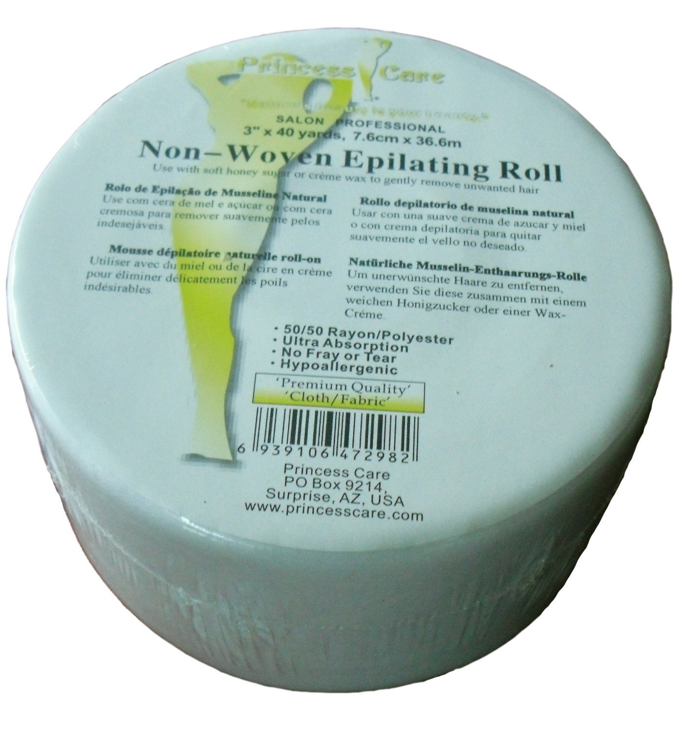 Amazon.com: Princess Care Non-Woven Epilating Fabric Wax Strips Roll (3.0