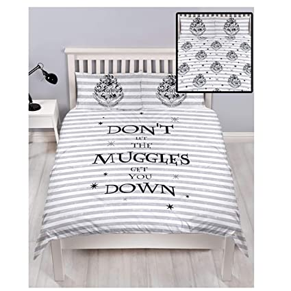 Juego De Cama Blanco Y Negro 135x200 Harry Potter Harry Potter