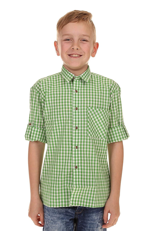 Isar Trachten Kinder Hemd krempelarm 52915 APFEL