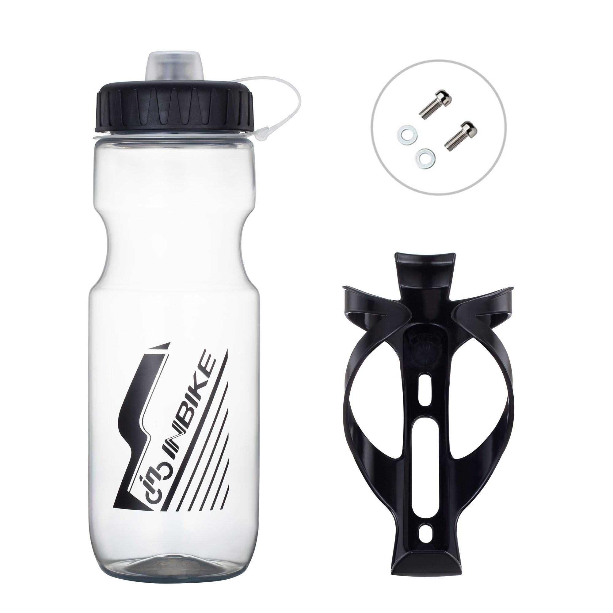 SportAI 700 ml Bike Water Bottle for Gym Workout Come with Basic Mountain Bicycle Bottle Holder Cage Brackets for Outdoor Cycling