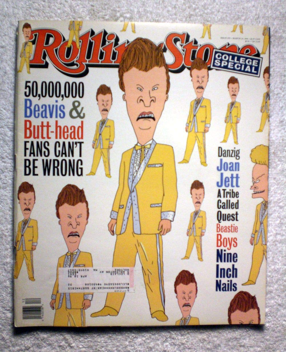 Beavis & Butt-Head (Mike Judge) - Rolling Stone Magazine - #678 - March 24, 1994 - Danzig, Joan Jett, A Tribe Called Quest articles Butthead