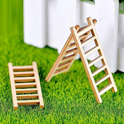 monkeyjack figura de jardín de hadas manualidades Micro paisaje decoración DIY escalera Set de regalo de 10: Amazon.es: Jardín