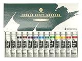 ターナー色彩 アクリルガッシュ 13本(12色)スクールセット AG13C 11ml