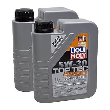 2 x Aceite de Liqui Moly 3706 Top Tec 4200 5 W 30: Amazon.es: Coche y moto