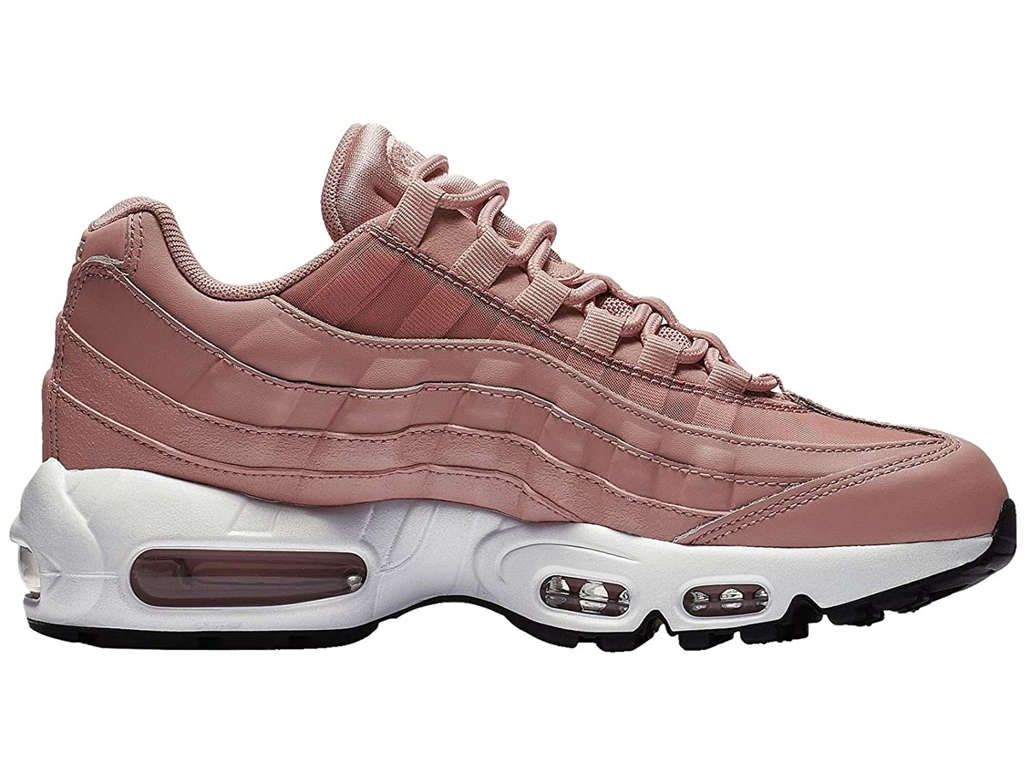 new style 0b909 2e682 Amazon.com   Nike Air Max 95 - Women s Rust Pink Particle Beige Black White  Nylon Running Shoes 10 B(M) US   Road Running