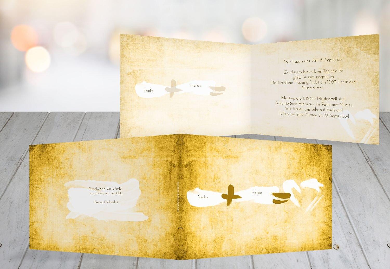 Kartenparadies Hochzeitskarte Hochzeit Einladung Einladung Einladung Du  Ich  Liebe, hochwertige Einladung zur Heirat inklusive Umschläge   10 Karten - (Format  148x105 mm) Farbe  DunkelGelb B01N24JIKU | Verschiedene Arten Und Die Styles  | Merkwürdige Form  | Sehen S 887098
