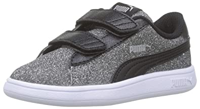 PUMA Baby Girls Smash V2 Glitz Glam V Inf Low Top Sneakers
