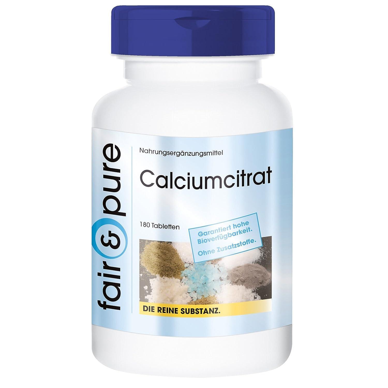 Citrato de calcio 300 mg - 180 comprimidos vegetarianas - Sustancia pura sin aditivos: Amazon.es: Salud y cuidado personal