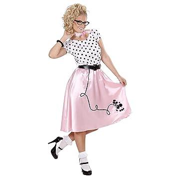 WIDMANN Señoras 50s caniche Traje de la Muchacha Grande del Reino Unido 14-16 para Grease 50s Rock N Roll Vestido