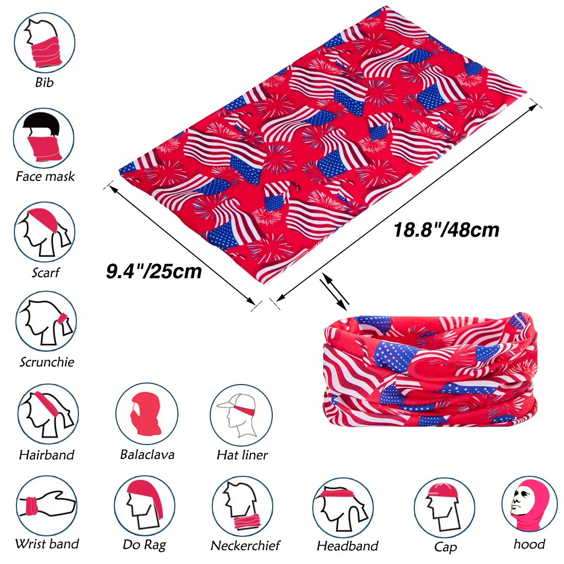 TUONROAD vintage Seamless Bandana Scarf custom Colorful Multi Cat Headwear Head Wrap spf Neck Gaiter for Cycling Fishing Hunting Running Camping Hiking