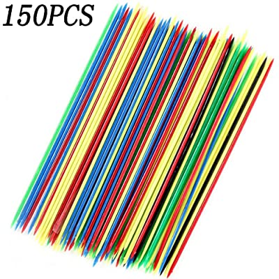 150PCS Colorful Thin Pick Up Sticks For Fun Family Parent-child Games