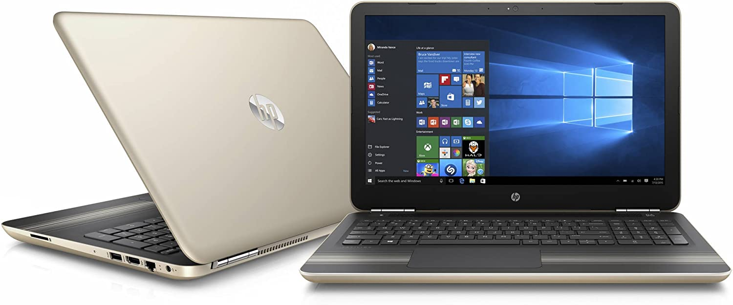 "HP Pavilion 15.6"" HD SVA Brightview WLED-backlit Laptop PC, Intel i5-6200U 2.3GHz 8GB DDR4 RAM 1TB HDD DVD+/-RW WIFI Bluetooth HDMI, B&O PLAY, USB 3.0, Windows 10, Gold"