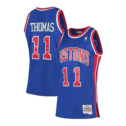 Mitchell   Ness Isiah Thomas Detroit Pistons 1988-89 Hardwood Classics  Swingman Jersey (Small 30cc9be94