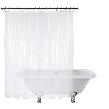 Amazon.com: Short-Cut Original Shower Curtain Liner | Shorter Length ...