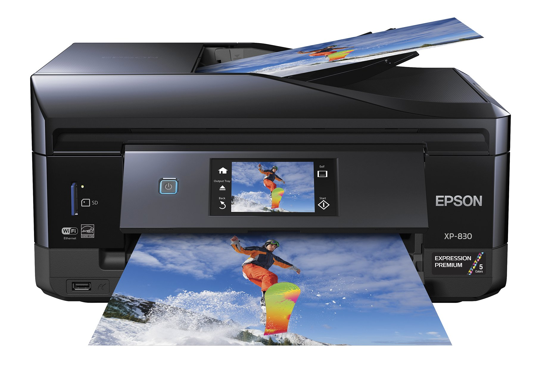 Epson XP-830 Wireless Color Photo Printer with Scanner, Copier & Fax (C11CE78201) by Epson