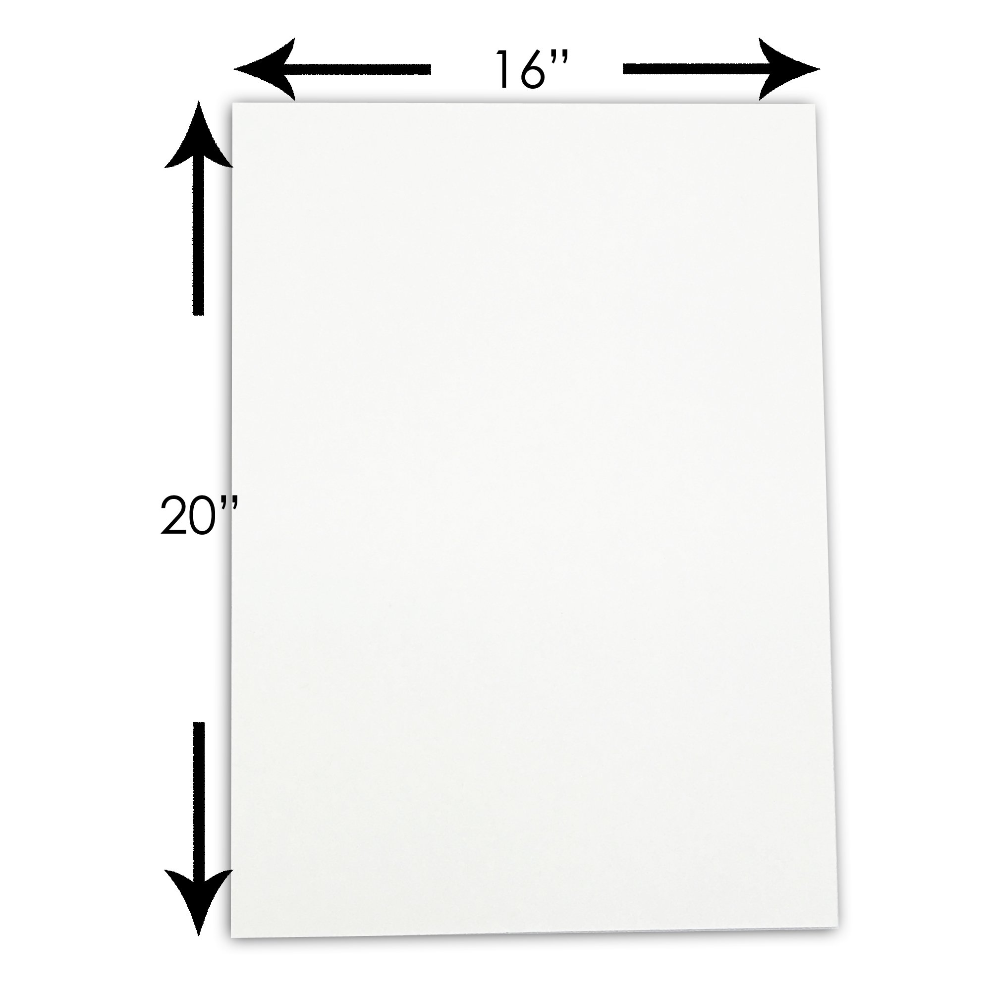 The Display Guys, Pack of 10, 16x20 inches Picture Mat Matte Backing Boards for Framing,White Core by The Display Guys