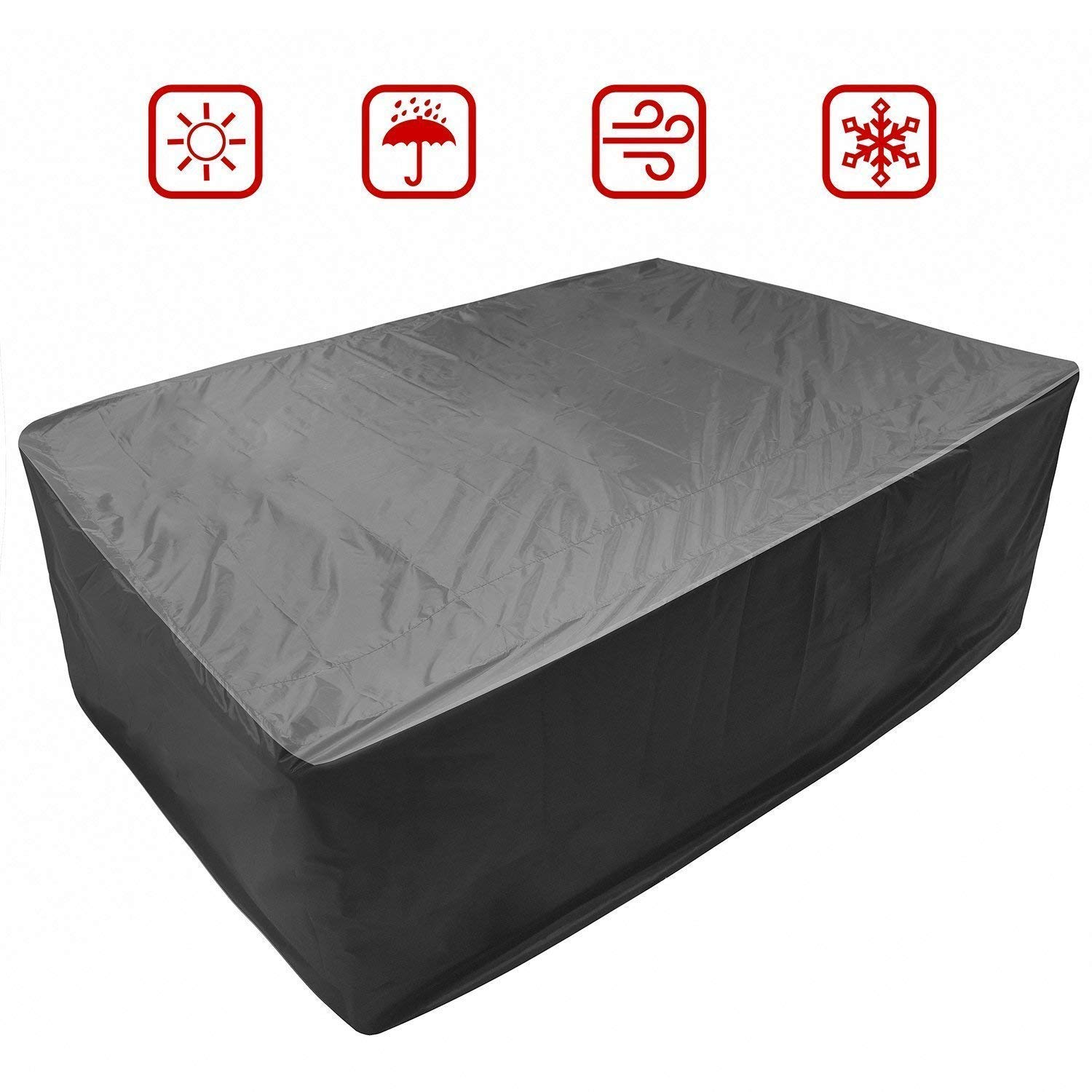 FreeSee Garden Bench Protective Cover Stacking Bench Cover Reclining Patio Outdoor Furniture Covers (L:245 x 165 x 100cm) by FreeSee