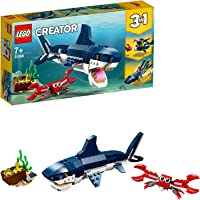LEGO Creator 3in1 Deep Sea Creatures 31088 Building Kit, 2019 (230 Pieces)