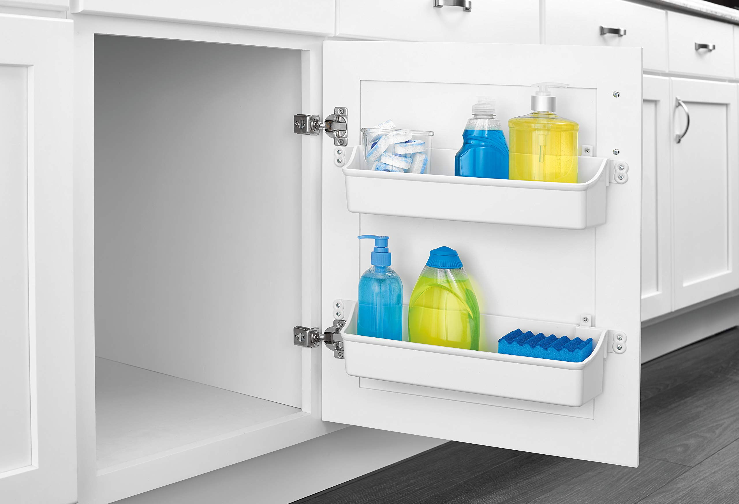Rev-A-Shelf Door Storage Trays, White
