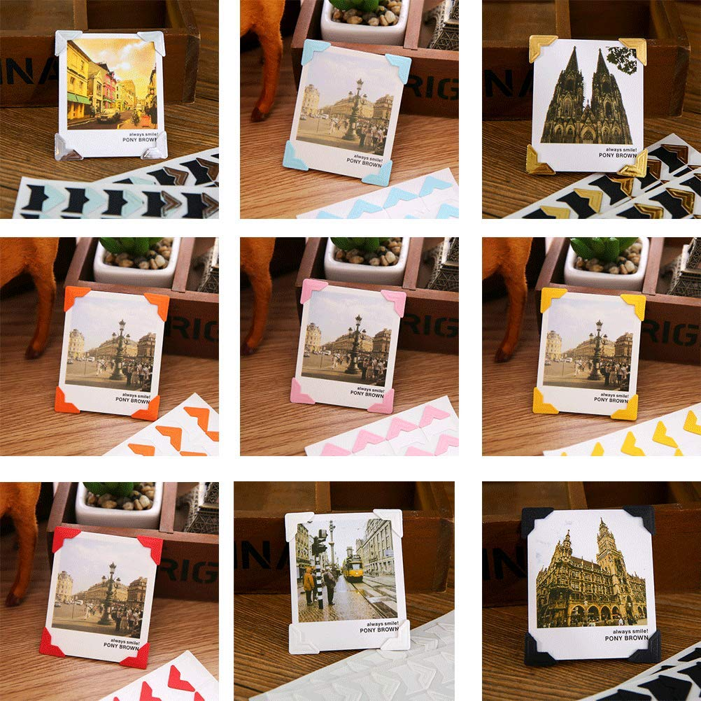 YANSHON Esquinas de Fotos 1116PCS Scrapbooking Pegatinas ...
