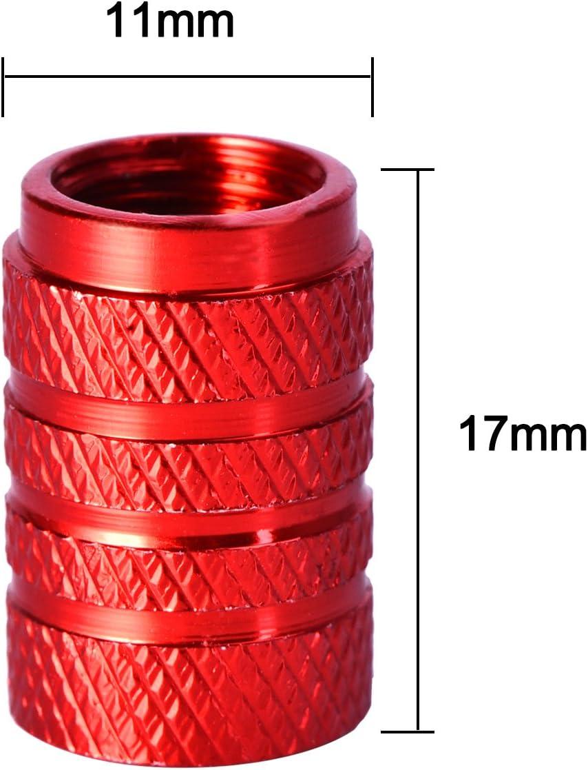 Tree-on-Life 4 Pezzi//Set Tappi valvola per Pneumatici in Lega di Alluminio per Automobili Tappi valvola per Ruote a Prova di Polvere Accessori Decorativi per Auto