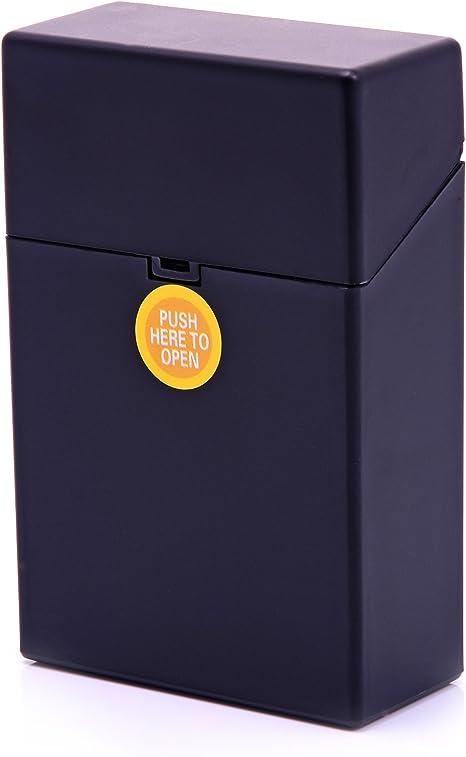 Caja de Cigarrillos Plástico Zigarettentui Caja del cigarrillo Caja para cigarrillos - LK Trend & Style - Amarillo: Amazon.es: Hogar
