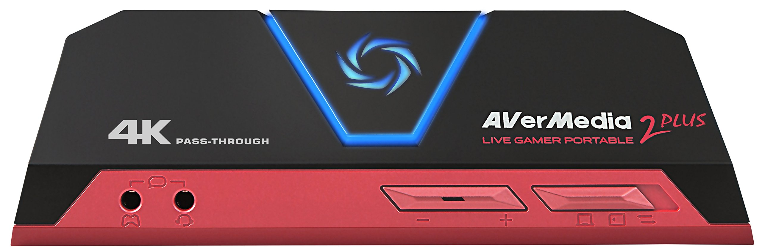 AVerMedia Live Gamer Portable 2 Plus, 4K Pass-Through, Full HD 1080p60 USB Game Capture, Ultra Low Latency, Record, Stream, Plug & Play, Party Chat for XBOX, PlayStation, Nintendo Switch (GC513)