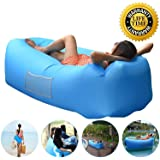 Anglink Outdoor Inflatable Lounger Couch, Thick Durable Comfortable, Air Sofa Blow Up Lounge Chair with Carrying Bag for Travelling, Camping, Hiking, Park, Pool and Beach Parties