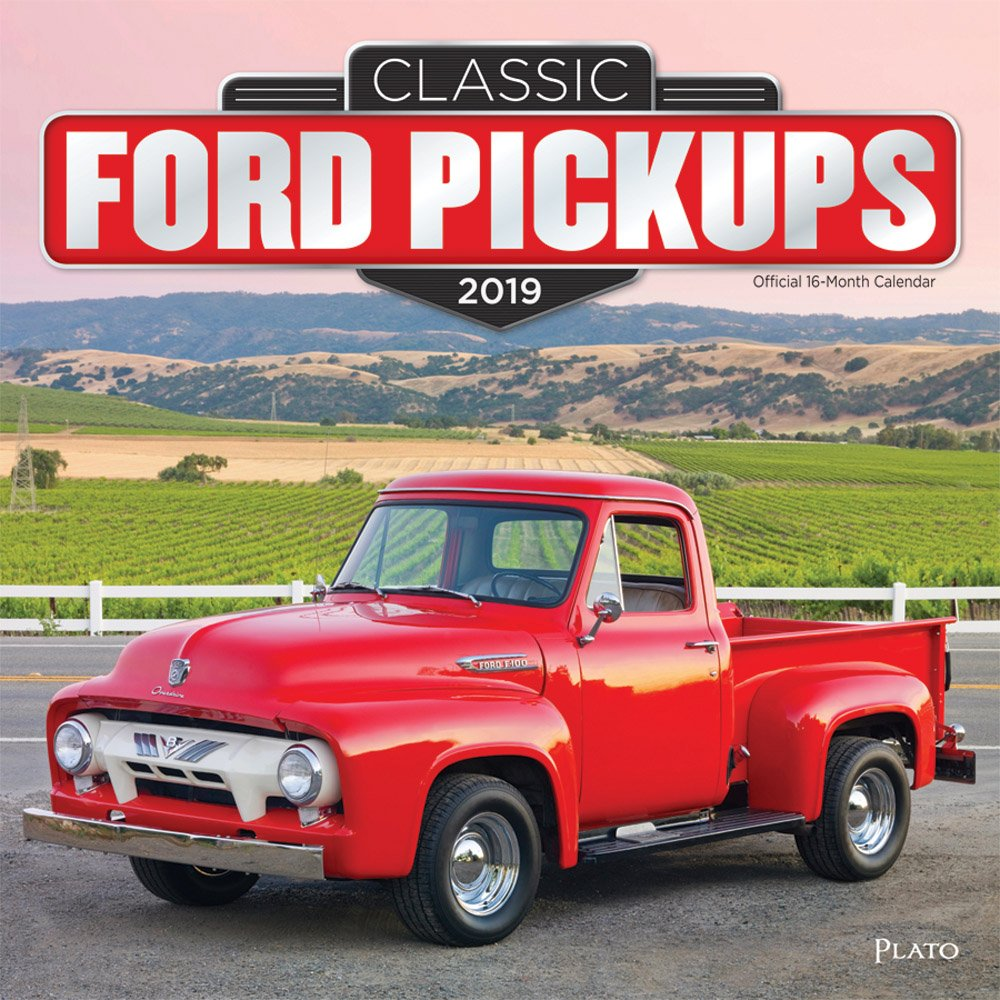 Classic Ford Pickups 2019 12 x 12 Inch Monthly Square Wall Calendar with Foil Stamped Cover by Plato, Motor Truck Inc. BrownTrout Publishers 1465075933 General Reference