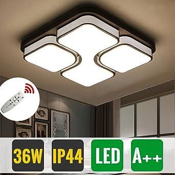 HG® 36W LED Deckenleuchte Wandlampe Deckenlampe Wohnzimmer Flur Dimmbar  Beleuchtung