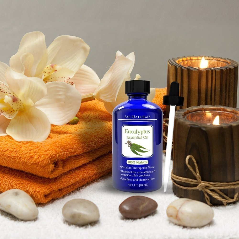 Eucalyptus Essential Oil 4oz - Premium Therapeutic Grade, for Diffuser, Humidifier, Sauna, Steam room, Shower, 100% Pure - by Fab Naturals by Fab Naturals (Image #7)