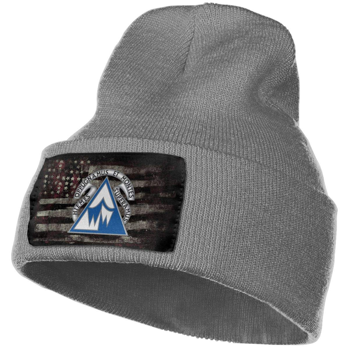 US Army Nuclear Warfare Command Unit Crest Mens Beanie Cap Skull Cap Winter Warm Knitting Hats.
